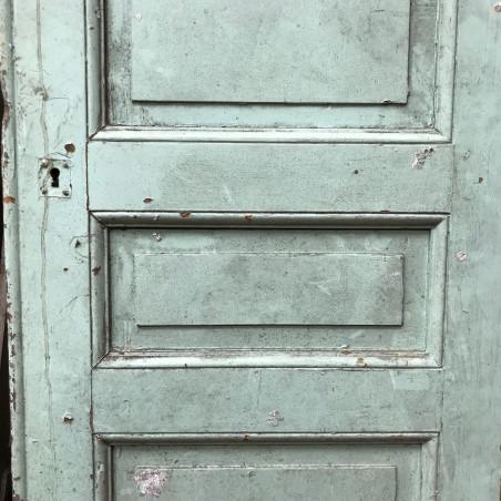 Cheminée ancienne louis XV en marbre bleu turquin