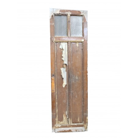 Double porte de placard ancienne en sapin massif avec Chassis