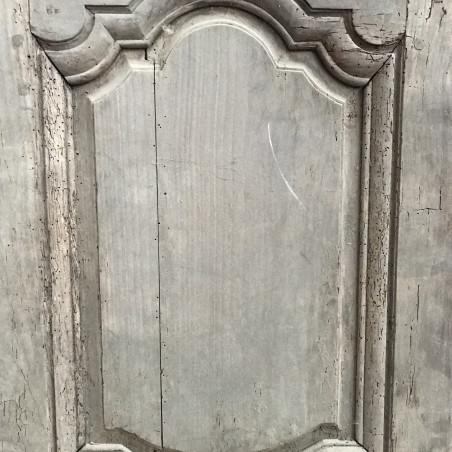 Porte d'entrée d'une banque à deux vantaux en chêne fin XIXème.
