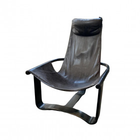 Fauteuil cuir tripode